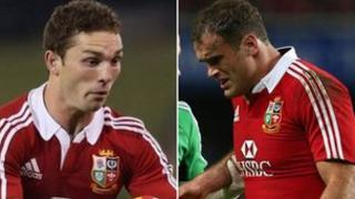 George North a Jamie Roberts