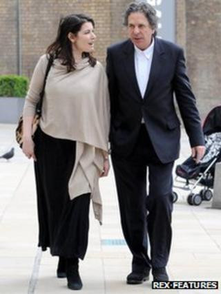 Nigella Lawson and Charles Saatchi visit the Saatchi Gallery in London in April 2009