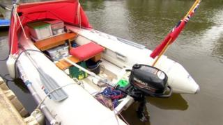 Arnold Grayston's boat