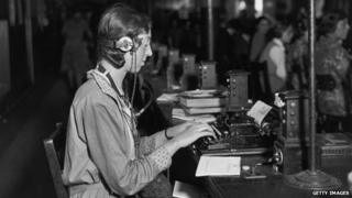 Early telegraph operator