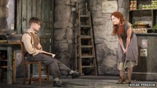 Daniel Radcliffe (Billy), Sarah Greene (Helen McCormick). pic by Johan Persson