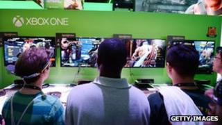 Gamers play Xbox One