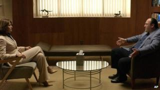 Lorraine Bracco and James Gandolfini in The Sopranos