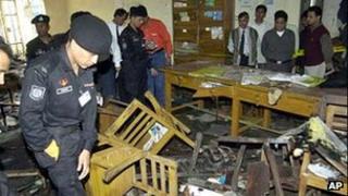 Scene of Gazipur bombing in 2005