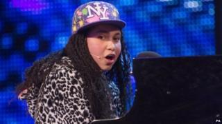 Gabz performing on Britain's Got Talent