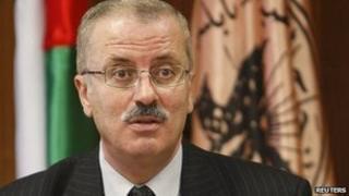 Palestinian Prime Minister Rami Hamdallah