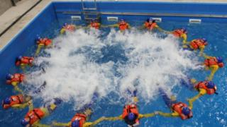 All of those from Coryton who have joined the oil rigs of the North Sea have to undergo water survival training