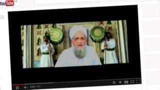 Screengrab from YouTube of the US State Department Digital Outreach Team's al-Zawahiri video