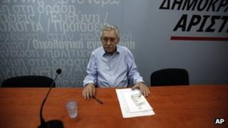 Democratic Left party leader Fotis Kouvelis, 21 June 2013