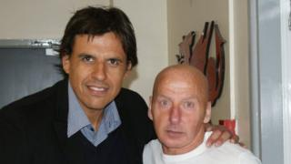Chris Coleman and Mickey Thomas