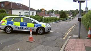 A bomb disposal team was sent to Bearsden after a gardener dug up an unexploded WWII device