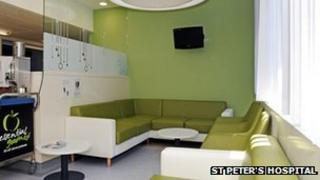 The new look area on Joan Booker Ward