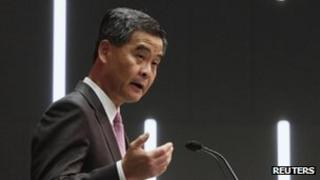 File photo: Hong Kong Chief Executive Leung Chun-ying