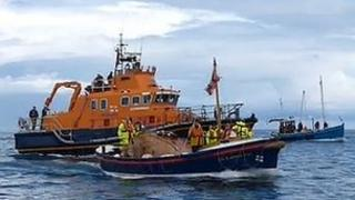 George Elmy lifeboat returning to Seaham