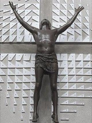 Statue of Jesus Christ, St Augustine's Church in Bristol