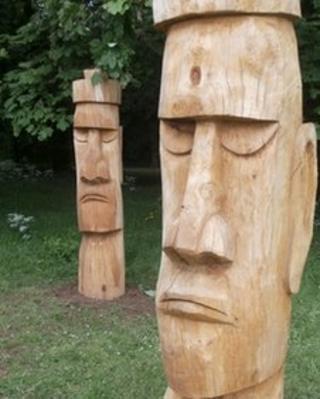 Captain Cook sculpture in Stewart Park Middlesbrough