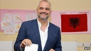 Edi Rama voting, 23 Jun 13