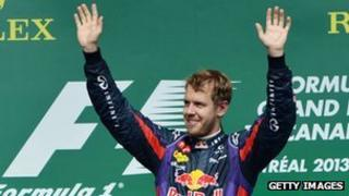 Seabstian Vettel after winning the Canadian Grand Prix