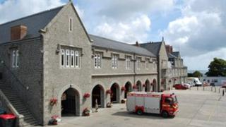 The Town fire station