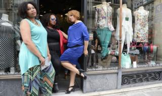 Plus-sized fashion models in France