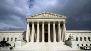 The US Supreme Court Building is seen in this 31 March 2012 file photo
