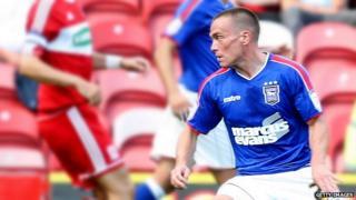 Ipswich Town striker Paul Taylor