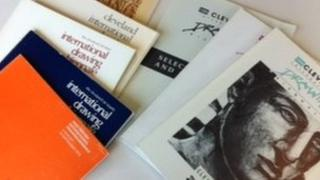 Catalogues from Cleveland International Drawing Biennale