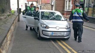 Parking enforcement officers