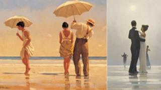 Vettriano works: Mad Dogs and Dance me to the end of Love