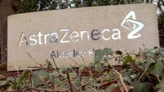 AstraZeneca sign at Alderley Park