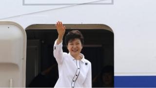 Chinese media are welcoming South Korean President Park Geun-hye