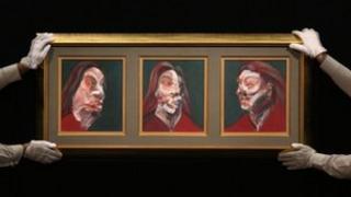 1966 triptych portrait of Isabel Rawsthorne
