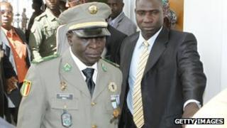Amadou Sanogo, head of the forces that overthrew the Malian president in 2012.