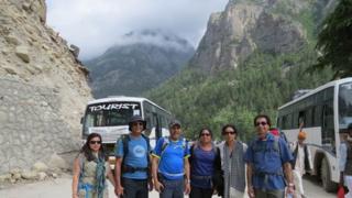 Trekkers on their trip
