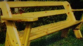 Stolen bench