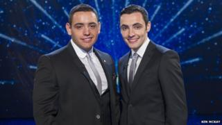 Richard and Adam, contestants on Britain's Got Talent 2013