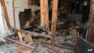 Scene of Bab Sharqi bombing - Sana handout 27 June