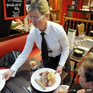 French restaurant dish in Quimper, W France - file pic