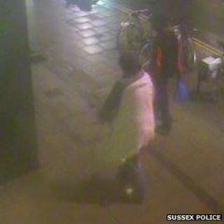 The victim (left) and rape suspect (right)