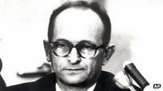 Adolf Eichmann on trial in Israel, 1961