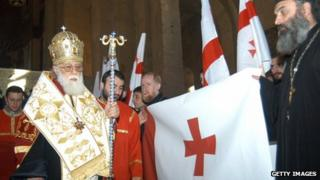 Patriarch Ilia II, the head of Georgia's Orthodox church