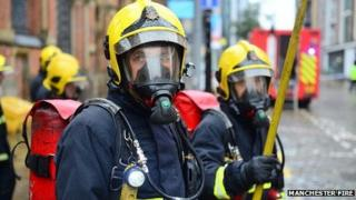 Fire officers in breathing apparatus