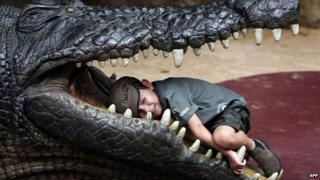 Child in crocodile