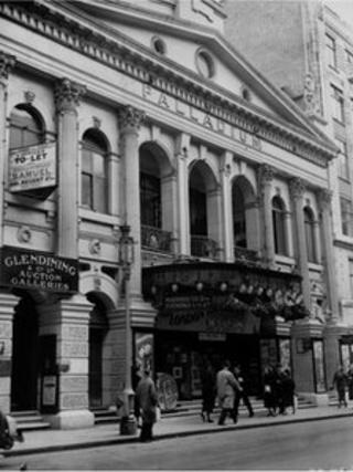 London Palladium in the early 1900s