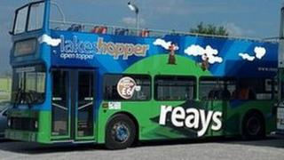 Reays open topped bus