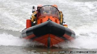 Hope Cove lifeboat