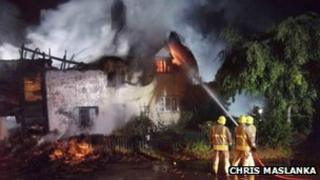 East Hagbourne thatched cottage fire