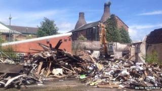 John Tams factory demolition
