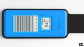 e-ink luggage tag