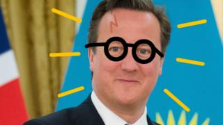 A mock-up of David Cameron as Harry Potter